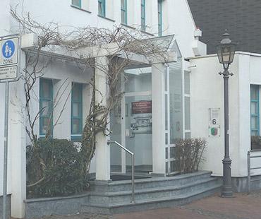 Eingang zur Kanzlei der Rechtsanwälte und Notare Bremkamp, Luft-Gautsch und Wessel in Haltern am See